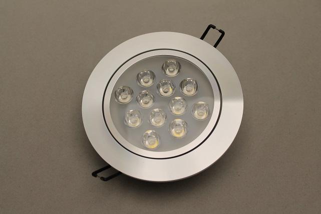 led beleuchtung beratung konzepte verkauf led einbauspot 12 watt alu dimmbar. Black Bedroom Furniture Sets. Home Design Ideas